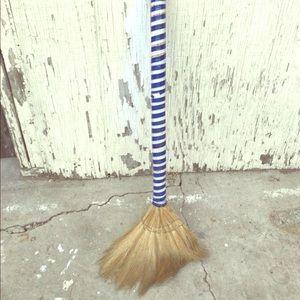 Antique Mini wooden witches costume Broom